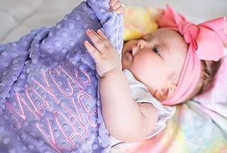 Pink Tie Dye baby Blanket, Customized baby blanket, Newborn gift, Baby Decor, Baby Shower Gift, Nursery Crib