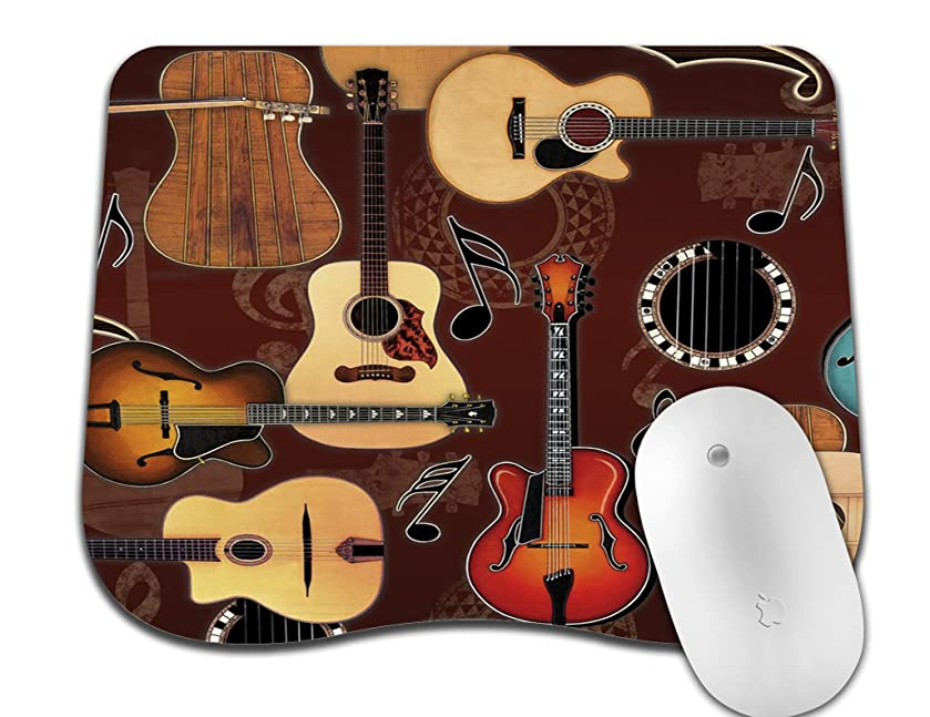 Abili Gaming Mouse Pad Custom, Enjoying Guitar Bringing Wonderful Music with New Design Curve Mouse Pads for Computers Laptop Office -Durable & Comfortable Non-Slip Rubber Mouse Mat Mousepad