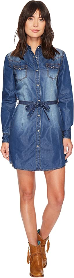 Western Denim Shirt Dress