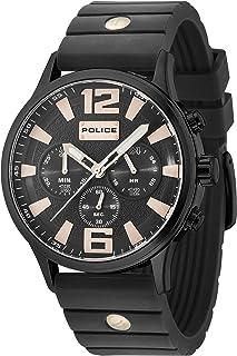 Police Men Watch WHITON PL.15216JSB/02P Chronograph Black Silicon Strap