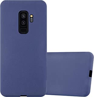 Cadorabo Case works with Samsung Galaxy S9 PLUS in FROST DARK BLUE - Shockproof and Scratch Resistant TPU Silicone Cover -...