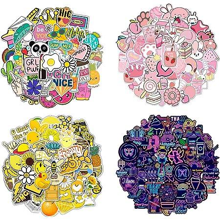 Ekkong Aufkleber Aufkleber Auto Wasserdicht Vinyl Stickers Decals Für Fahrrad Motorrad Graffiti Skateboard Laptop Computer Gepäck Jungen Und Mädchen 100 Stücke Spielzeug