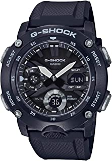 Casio G-SHOCK Orologio 20 BAR, Analogico - Digitale, Uomo, con Cinturino in Carbonio