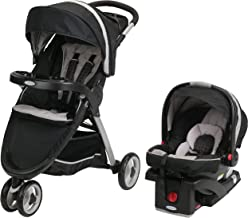 Graco FastAction Fold Sport Travel System | Includes the FastAction Fold Sport 3-Wheel Stroller and SnugRide 35 Infant Car Seat, Pierce