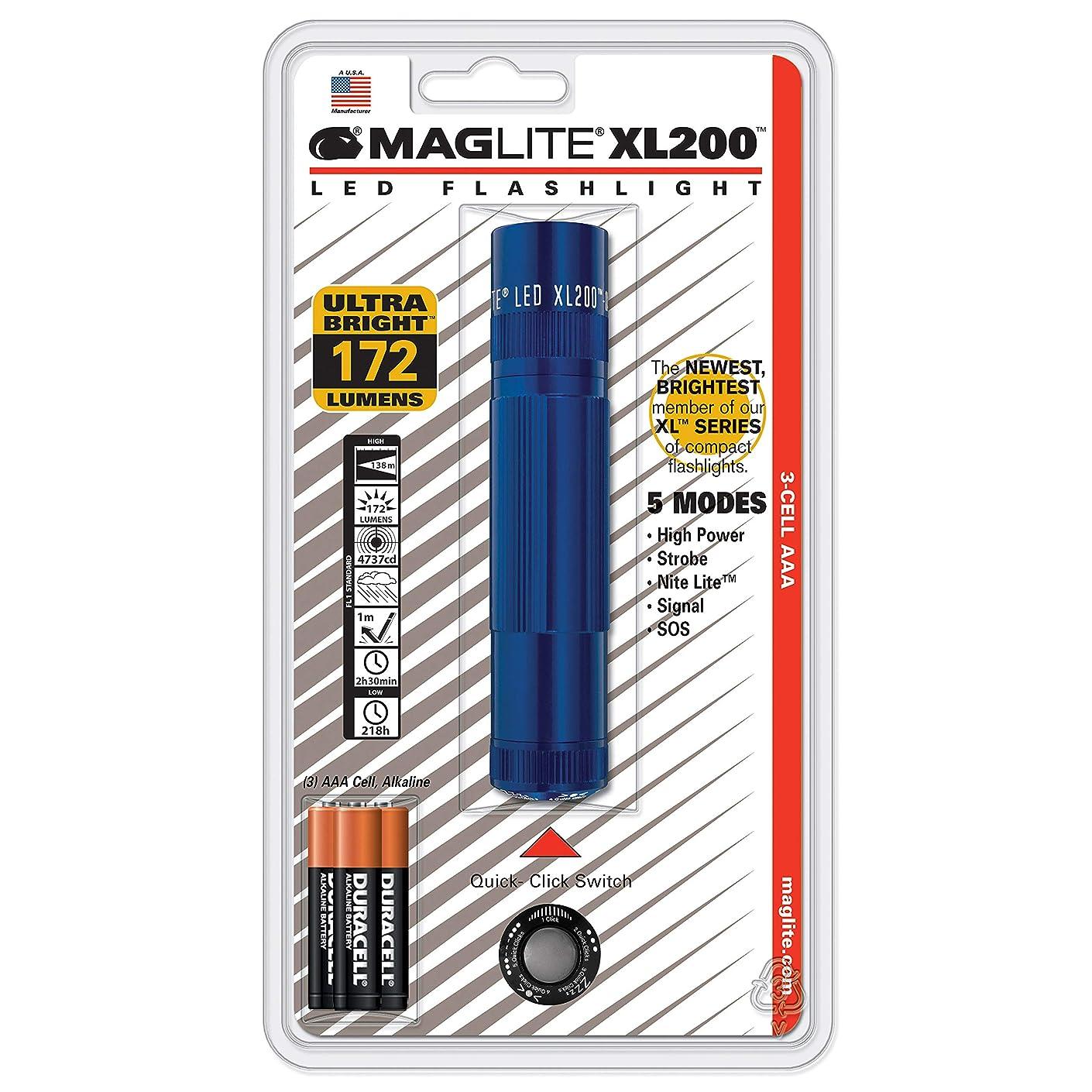 短くするに付けるアーサーMAGLITE(マグライト) XL200-S3116 LEDフラッシュライト ブルー