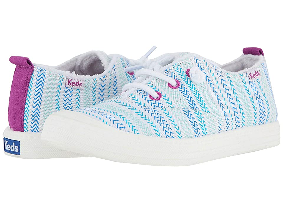 Keds Kids Breaker (Little Kid/Big Kid) (Turquoise Herringbone) Girl
