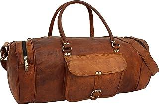 Gusti Reisetasche Leder - Michael Ledertasche Sporttasche Gepäcktasche Weekender Vintage Braun Leder