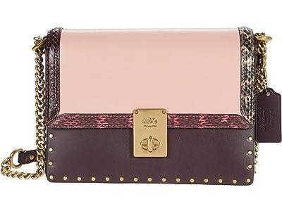 COACH Color-Block with Snake and Rivets Jennifer Lopez Hutton Shoulder Bag