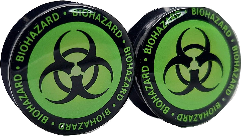 Pierced Max 74% OFF Republic Biohazard Symbol Ear Philadelphia Mall Acrylic Screw-On - Plugs