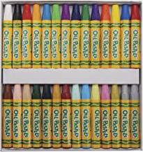 Crayola Oil Pastels, 28 Brilliant Opaque Colors Large Hexagonal Shape Pastels, Ideal For Kids 3 & Up, Non-Toxic, Blendable, Strong, Long Lasting Sticks