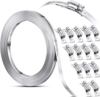 Hoses Clamps, Clamps Worm, Worm Clamps Stainless Steel, Large Hose Clamp Worm Drive Hose Clamps Adjustable Pipe Hose Clamp...