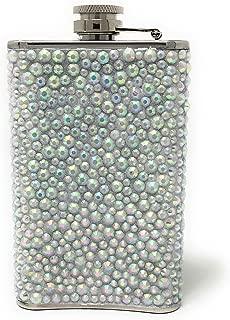 Stainless Steel Womens Rhinestones Crystal Liquor Hip Flask| Birthday Christmas Bachelorette Bridesmaid Friends Party Gifts| Girly Girl Pink Novelty Liquid Spirits Premium Travel Drinking Flasks 5 oz