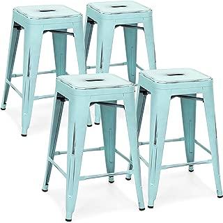Best blue metal counter stool Reviews