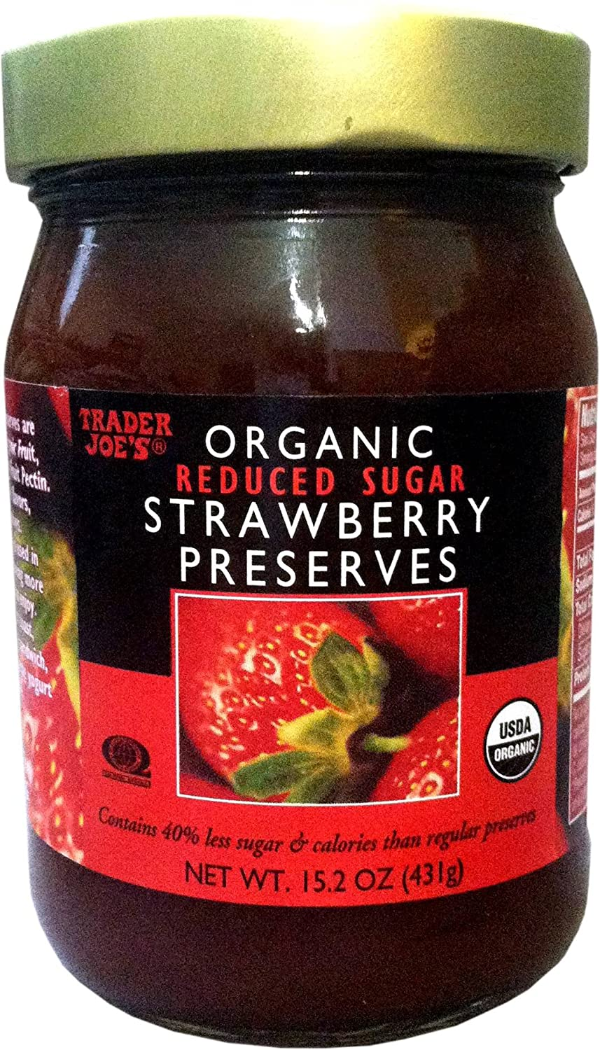 Trader Joe's Organic Max 86% OFF Animer and price revision Preserves Strawberry