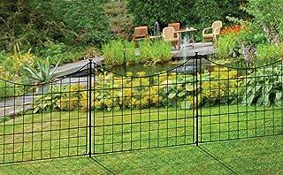 "Best Zippity Outdoor Products WF29001 Garden Metal Fence, 147.5"" x 25"", Black Review"
