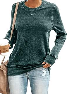 Women Crewneck Casual Long Sleeve Pullover Sweatshirt Tops S-XXL