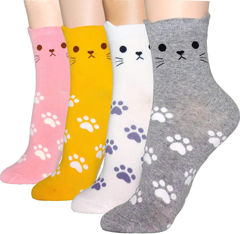 DearMy Women`s store Complete Free Shipping fun design Casual Pattere Art Cotton Crew Socks