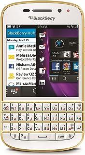 BlackBerry Q10 Sqn100 3 16Gb 4G Lte Unlocked Gsm Os 10 Phone White/Gold