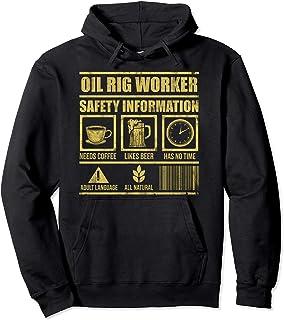 Oil Rig Worker Plan USA American Gas Oilfield Pullover Hoodie