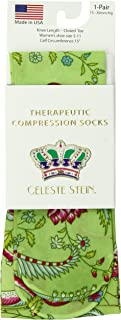 Celeste Stein Therapeutic Compression Socks, Lime sweet Pea, 15-20 Mmhg, Moderate