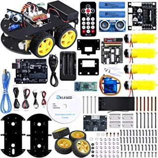 ELEGOO UNO R3 Kit de Coche Robot Inteligente V3.0 Compatible con Arduino IDE, con Módulo de Seguimiento de Línea, Sensor Ultrasónico, Modulo Inalámbrico, Kit Robótico Coche Educativo Stem para Niño