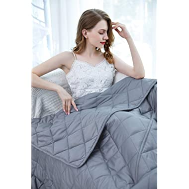 ZZZhen Weighted Blanket - California King Size, 80''87'' - 25LB Blanket & Duvet Cover (Total 28.75LB with Packing), Premium Cotton Luxury Set