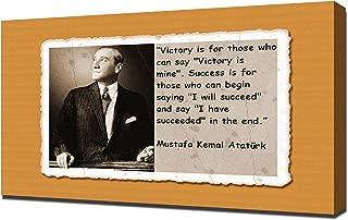 Mustafa Kemal Ataturk Quotes 6 - Canvas Art Print