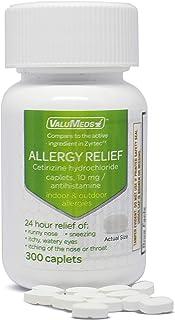 ValuMeds 24-Hour Allergy Medicine (300-Count) Antihistamine for Pollen, Hay Fever, Dry, Itchy Eyes, Allergi...