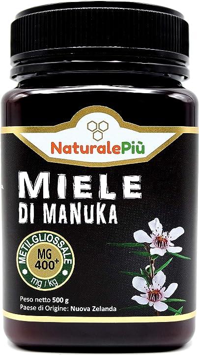 Miele di manuka naturale , prodotto in nuova zelanda , 500 grammi  metilgliossale testato naturalepiù B079VP492V
