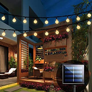 Solar String Lights Garden, 24 Ft 30 Crystal Balls Waterproof LED Fairy Lights, 8 Modes Outdoor Solar Powered Lights, Deco...