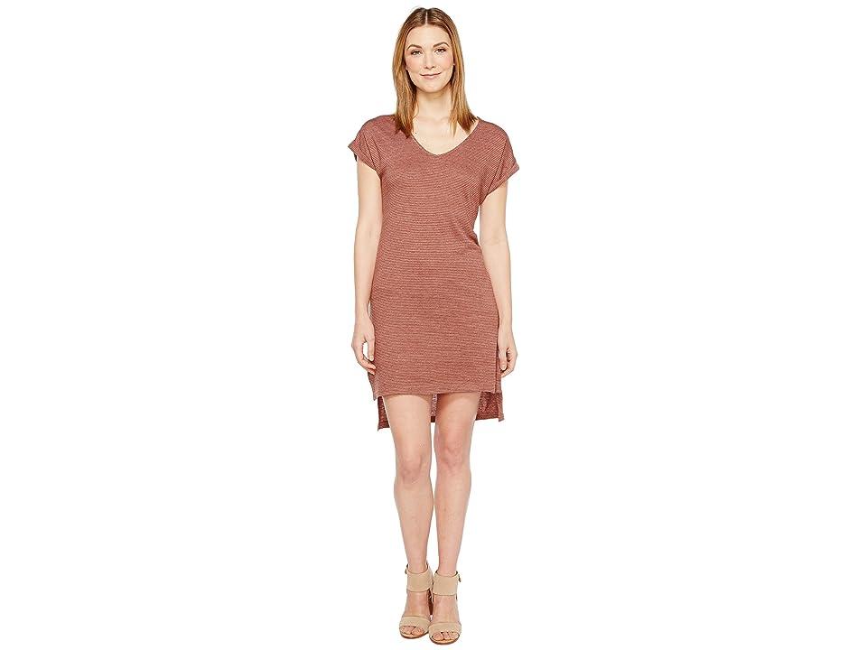 Alternative Eco Jersey Yarn Dye Stripe Escapade Dress (Desert Rock Overdye Seaside Stripe) Women