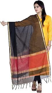 Women's Handwoven Zari Work Banarasi Dupatta Stole Scarf (D104)