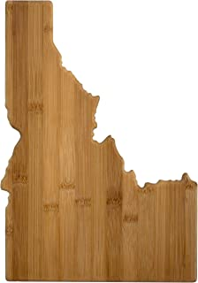 Totally Bamboo 20-7966ID Idaho State Shaped Bamboo Serving & Cutting Board