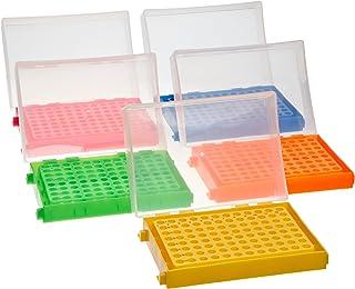 Heathrow Scientific - HEA23461A HD23461A 5 Piece Polypropylene 96-Well PCR Rack Assorted Colors Set