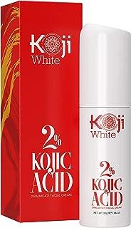 2% Kojic Acid Facial Cream - Natural Skin Lightening for Hyperpigmentation, Dark Spots, Scars, Discoloration, Melasma, Freckle & Brightening Face Moisturizer 1.06 Fl. Oz