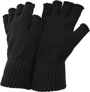 FLOSO Mens Fingerless Winter Gloves