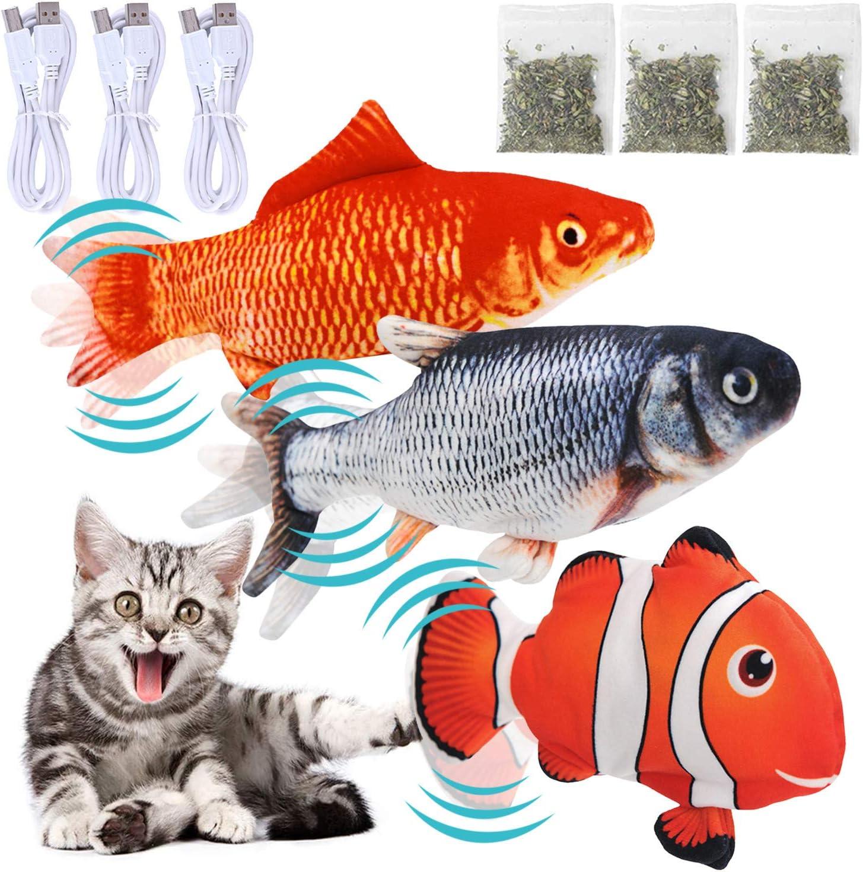 Seattle Mall HXZLJLP 3 Pack Floppy Fish Toy I Omaha Mall Cat Catnip Dog