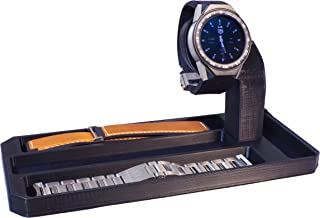 Artifex Design Stand Configured for 2nd Generation TAG Heuer Connected Modular 45 Smartwatch, fits 45mm Watch only (Strap Combo)
