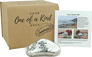 Pirantin 22nd Anniversary You are My Rock Gift Idea - Solid Metal Heavy Polished Rock Gift for 22 Year Anniversary