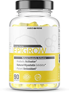Epigrow Anabolic Activator by Anabolic Warfare – Myostatin Inhibitor and Nitric Oxide Booster with Epicatechin to Help Pro...
