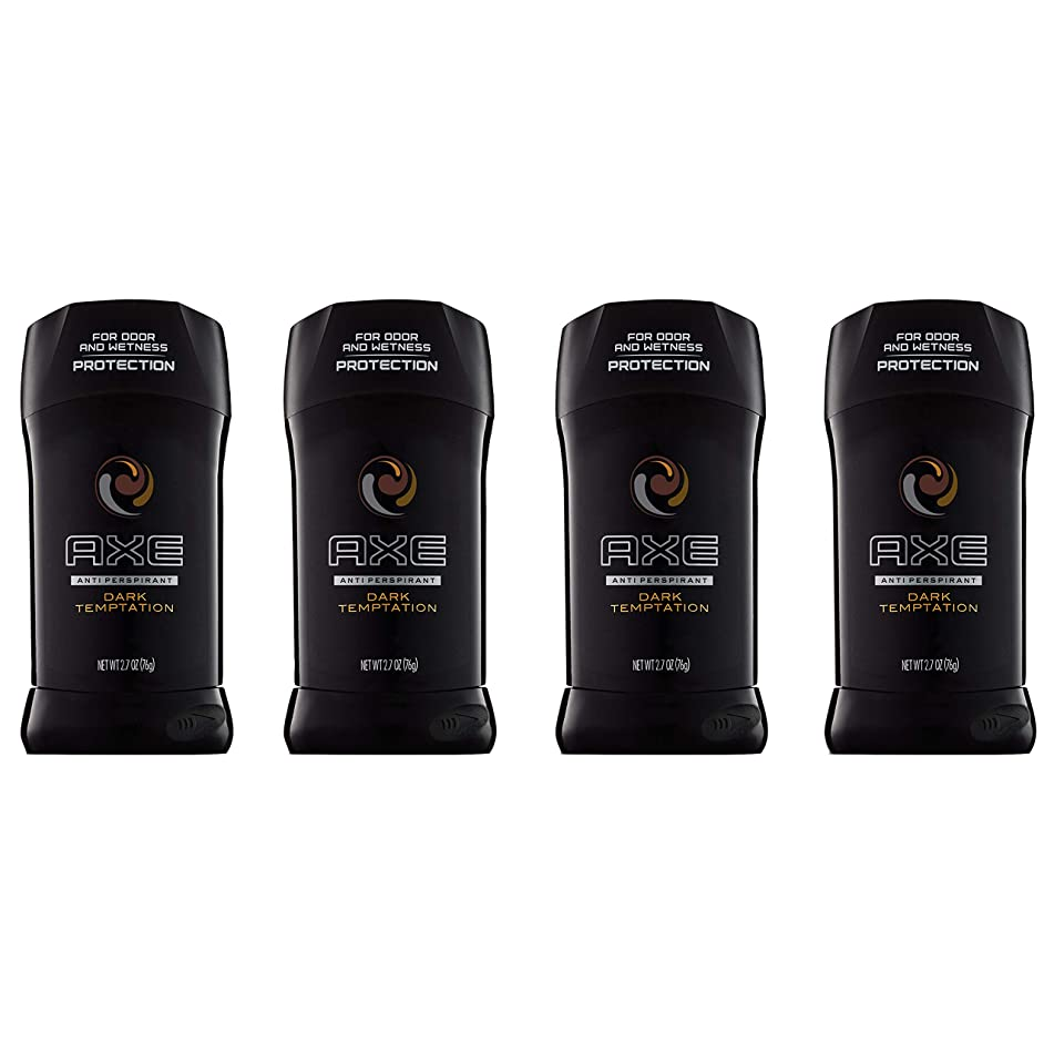 AXE Antiperspirant Deodorant Stick, Dark Temptation, 2.7 oz, 4 count