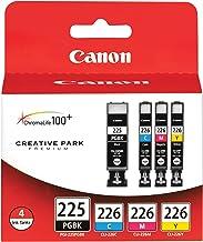 2 X Canon PGI-225 BK/ CLI-226 4530B008 C,M,Y 4 Pack Value Pack in Retail Packaging
