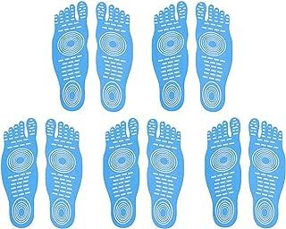 DB Men Women and Kids Sticker Adhesive Foot Pads Stick On Soles Flexible Feet Protection,Socks for Exercise Beach Pool Feet, Non Slip Yoga Socks