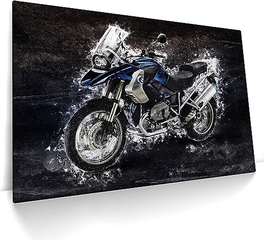 CanvasArts R1200 GS Artwork – Leinwand auf Keilrahmen – wandbild modern abstrakt kompatibel mit BMW R1200GS (120 x 80 cm, Leinwand auf Keilrahmen)
