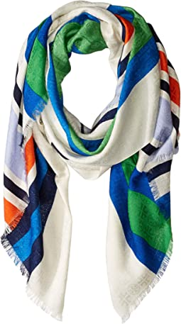 Striped Traveler Oblong Scarf