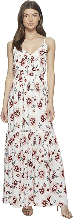 "Kogan ""Pretty Meadows"" Printed Maxi Dress"