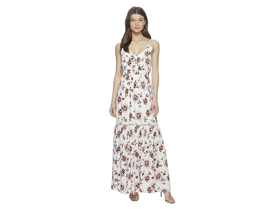 Jack by BB Dakota Kogan Pretty Meadows Printed Maxi Dress (Off-White) Women