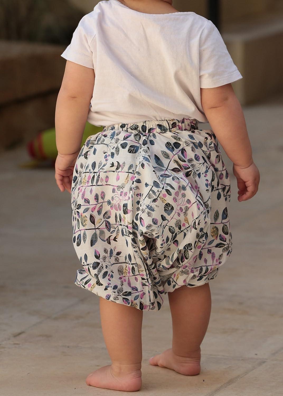 Haremshose f/ür Kleinkinder aus Baumwolle mit Mustermix bedruckt
