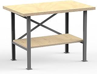 AUPROTEC Professionele werkbank 1250 x 700 x 850 mm met multiplex-plaat 40 mm - werkbankplaat massief multiplex hout - ind...