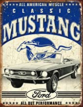 Desperate Enterprises Classic Ford Mustang Tin Sign, 12.5